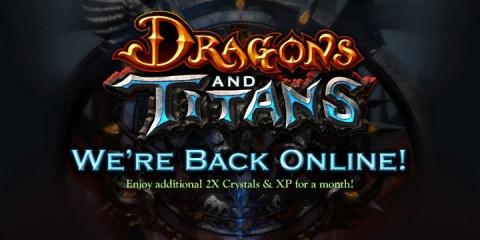 Jaquette de Dragons and Titans : Le retour des serveurs après une semaine