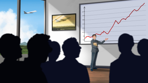 Jaquette de Airlines Manager : Tycoon sort les trains d'atterrissage