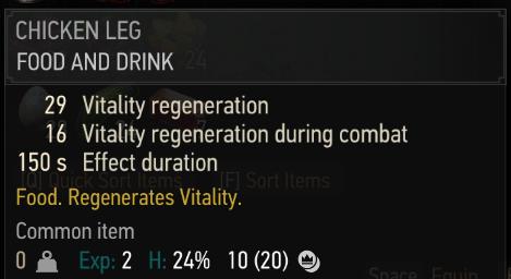 """Faim, déshydratation : les galères de Geralt dans le mod réaliste """"Primal Needs"""""""
