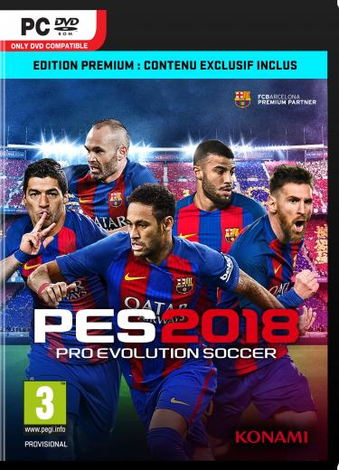 Pro Evolution Soccer 2018 sur PC
