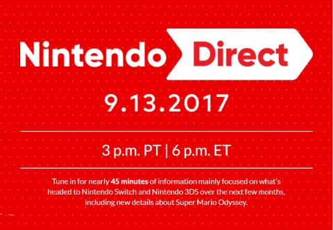 Nintendo Direct : Rendez-vous le 13 septembre pour du Super Mario Odyssey (et plus)