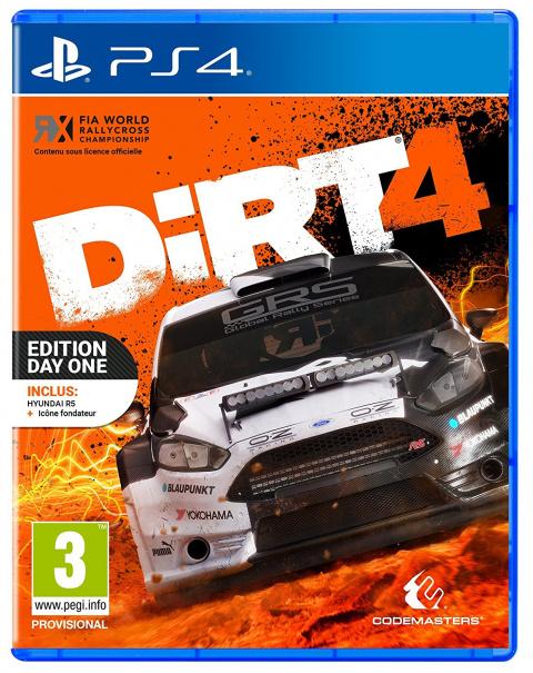 DiRT 4 sur PS4