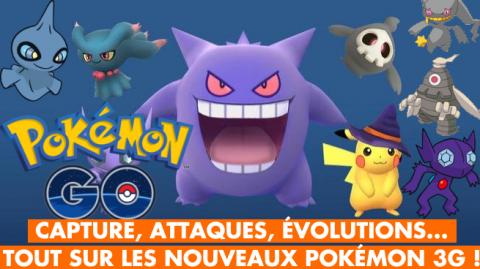 Pokémon GO : tout sur les premiers Pokémon 3G !