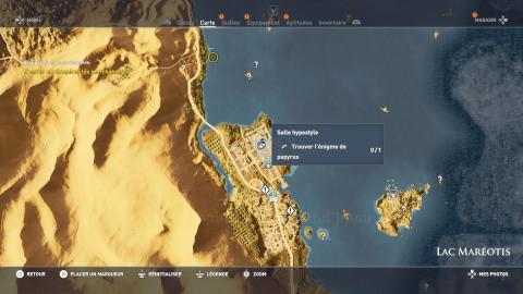 Énigme de Papyrus - Lac Maréotis