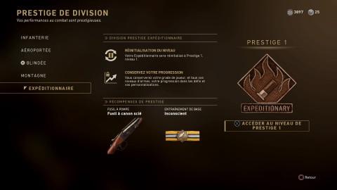 Les récompenses Prestiges des Divisions