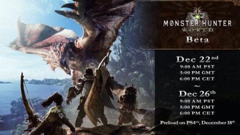 Monster Hunter World : Une bêta ouverte la semaine prochaine