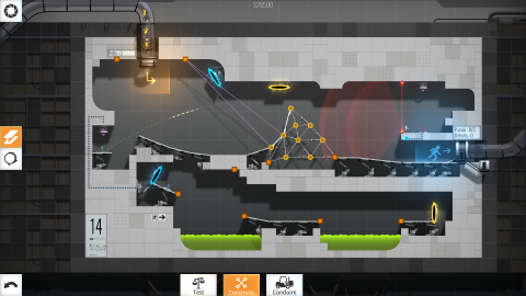 Bridge Constructor Portal, entre construction et puzzle-game
