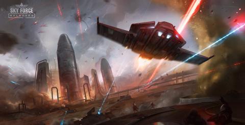 Sky Force Reloaded se trouve une date sur Switch