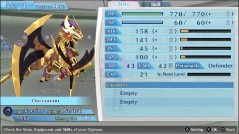 Quatre nouveaux Digimon dans Cyber Sleuth Hacker's Memory
