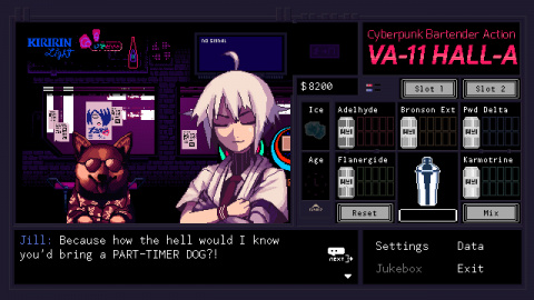 VA-11 HALL-A : le visual novel cyberpunk annoncé sur PS4 et Nintendo Switch