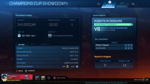 Rocket League : Le mode tournoi arrive en bêta du 21 au 23 février
