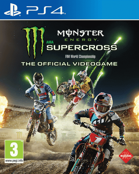 monster energy supercross sur playstation 4. Black Bedroom Furniture Sets. Home Design Ideas