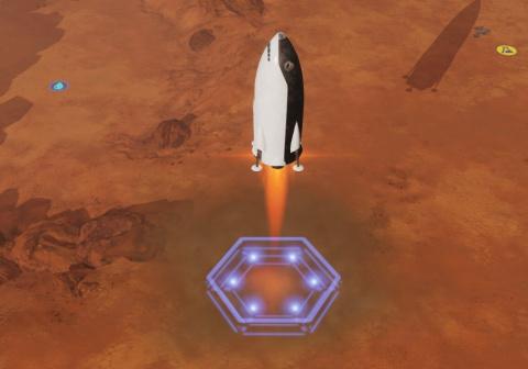 Premiers instants sur Mars