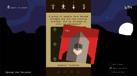 Reigns : Kings and Queens abattra ses cartes sur Switch le 20 septembre