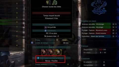 Monster Hunter World, guide Cantine : emplacement des ressources bonus uniques, débloquer les 40 ingrédients cachés