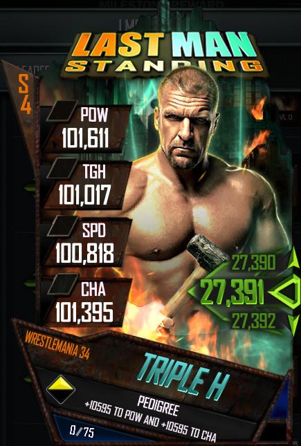 WWE SuperCard : La quatrième saison s'enrichit d'un nouvel événement
