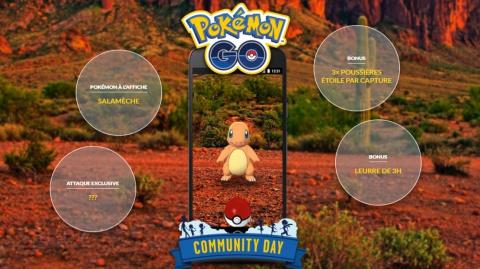 [MàJ] Pokémon GO, Community Day : Salamèche à l'honneur le 19 mai, préparez-vous