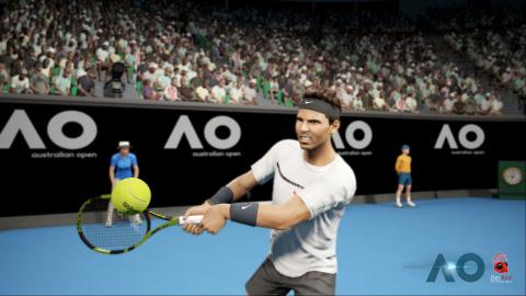 AO International Tennis : Première rencontre de Nadal en mode carrière
