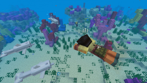 Minecraft : l'Update Aquatic se déploie en partie sur nos machines