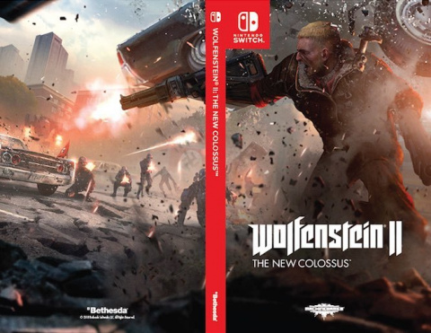Wolfenstein II : des images tirées de la version Switch et trois jaquettes alternatives