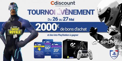 PS League : 2 000€ à gagner sur Fortnite et GT Sport !