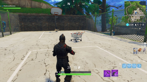 Emplacement des chariots de supermarché