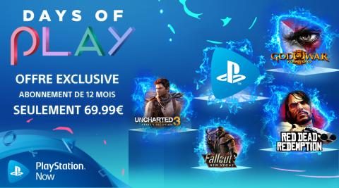PS Now: 30% de remise pour les Days of Play !