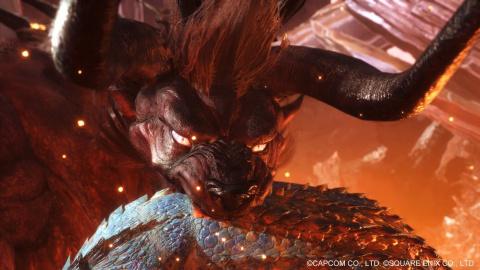 Monster Hunter World : Un accueil chaleureux pour le Behemoth de FFXIV