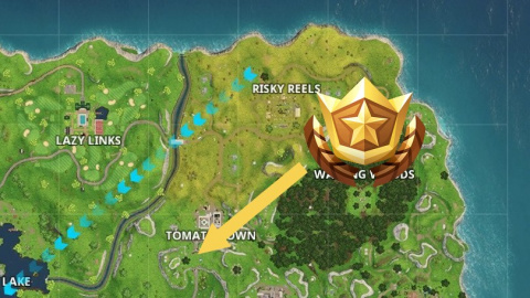 fortnite d fis semaine 1 saison 5 carte au tr sor de risky reels clairs volants notre. Black Bedroom Furniture Sets. Home Design Ideas