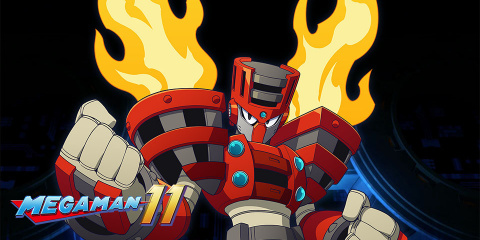 Une minute de combat contre Torch Man sur Mega Man 11