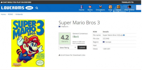 Nintendo attaque en justice les sites LoveROMs et LoveRetro