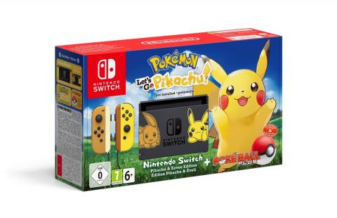 [MàJ] Pokémon Let's Go, Pikachu / Évoli : deux packs Nintendo Switch en édition limitée