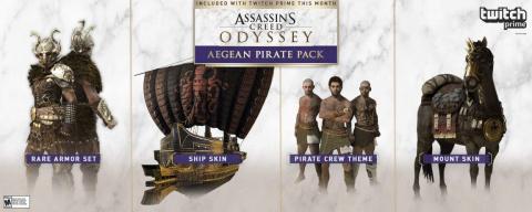 Assassin's Creed Odyssey : Le pack Pirate égéen offert avec Twitch Prime