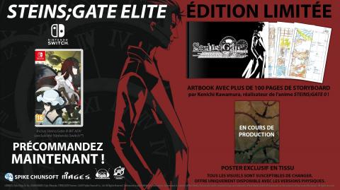 Steins;Gate Elite : l'édition limitée également prévue en Europe