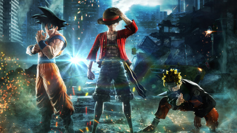 Jump Force : Goku et Vegeta SS Blue Vs Golden Freezer à Paris - X018