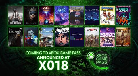 Xbox Game Pass : Plus de 15 nouveaux titres annoncés au XO18 !