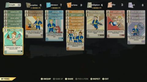 Fallout 76 : Le système de perks