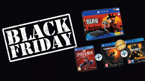 Black Friday : Pack PS4 Slim 1 To + 4 jeux (RDR 2, Spider-Man) à 379€