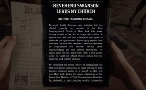 Le destin du révérend Orville Swanson
