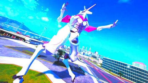 Override Mech City Brawl présente le robot licorne