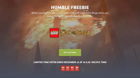 LEGO : Le Seigneur des Anneaux s'offre sur Humble Bundle