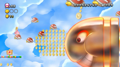 New Super Mario Bros. U Deluxe : Peachette fait un vol plané