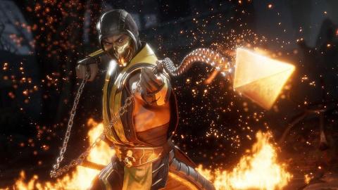 Mortal Kombat 11 : Baraka saigne Scorpion