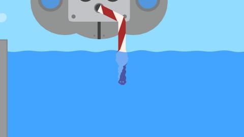 Troisième robot, le lac