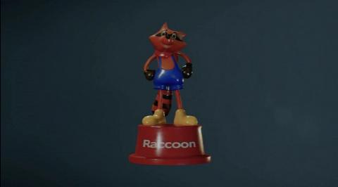 Emplacements des 15 jouets Mr Raccoon