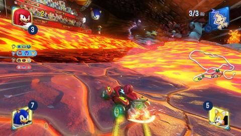 Team Sonic Racing : un circuit volcanique dévoilé en images
