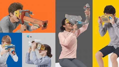 La Switch se met à la VR avec le Nintendo Labo Toy-Con 04 VR Kit