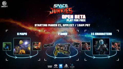 Space Junkies : le shooter VR d'Ubisoft arrive aujourd'hui en bêta ouverte