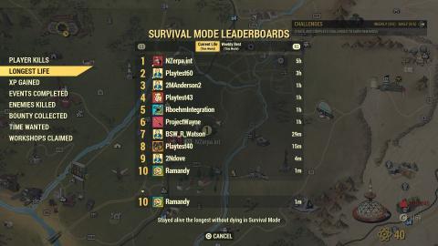 Fallout 76 : classements, récompenses... les détails du mode Survie avant son arrivée en bêta