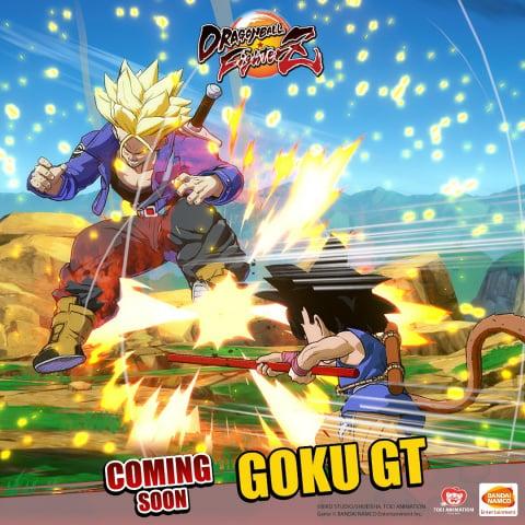 Dragon Ball FighterZ : Goku GT se montre sur le dos de Shenron dans une série de visuels